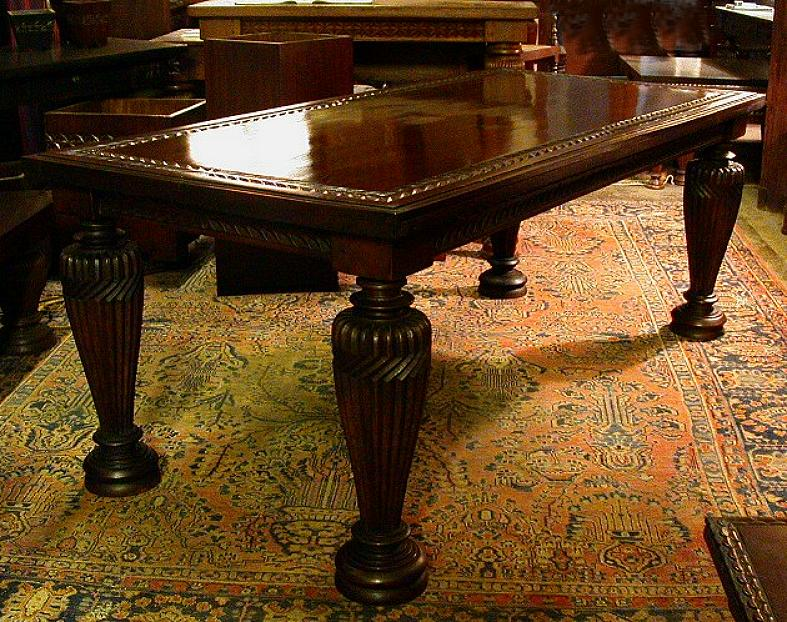 Mahogany library tables by mahogany tables inc for Classic library table